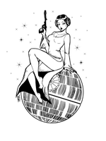 Leia On Death Star by Kinbarri