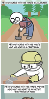 He who works with his hands by BrandonPewPew