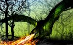 The Deadfall Dragon by artist Tom Kelly by TomKellyART