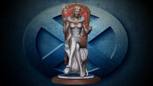 Emma frost, the white queen redo. by synn1978