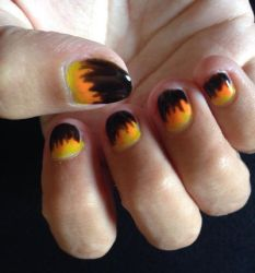 Flames nails  by Prince5s