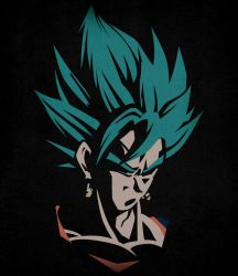 Vegetto Super Saiyan Blue - Minimalist by Horira21
