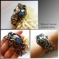 Rhiamon bracelet- wire wrapped copper by mea00