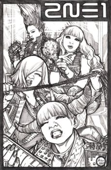Comissions - 2NE1 pinup by AdrianaMelo