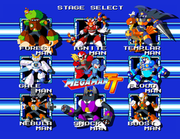 Mega Man TT's Robot Masters by JusteDesserts