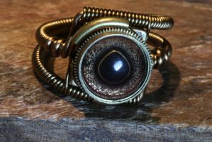 Steampunk ring with taxidermy glass eye by CatherinetteRings