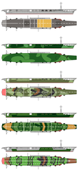 IJN Hosho what if camouflage patterns by Tzoli