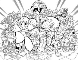 Sonic 250 cover inks by SKY-BOY
