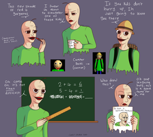 Baldi art dump by LalaEX