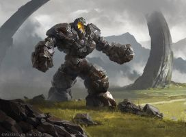 Howling Golem - Magic the Gathering by 88grzes