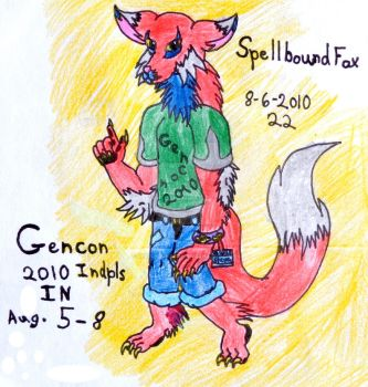 Old Art: Steven the Gencon 2010 Wolf by SpellboundFox