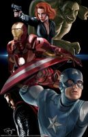 The Avengers Assemble by keikei11