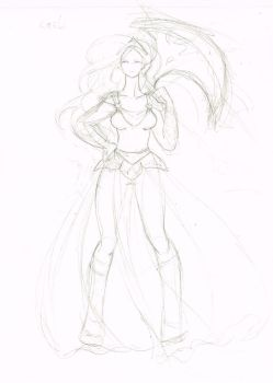 Kaeli sketch from Final Fantasy Mystic Quest by mystic-kitties