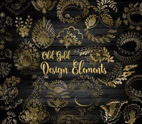 Old Gold Design Elements Clipart by DigitalCurio