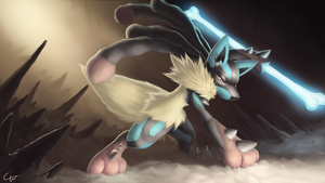 Mega lucario by Cana-the-wolf