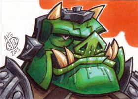 Gamorrean Guard Sketch Card by Chad73