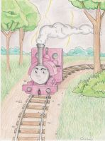 Skarloey Goes like Lightning by Vermilion-Heart