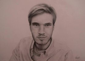 Pewdiepie Pencil Drawing by SasaThePsycho