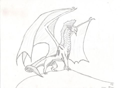 DnD Silver Dragon Sketch by Raharu07