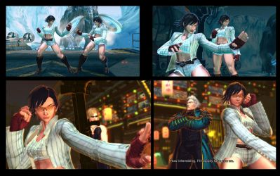 SF X TEKKEN Cammy and Julia as Lady from DMC 4 by monkeygigabuster