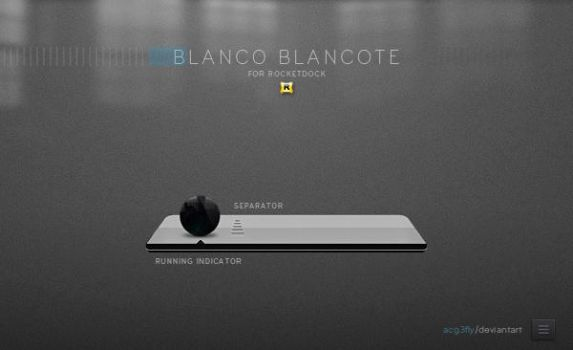 Skin Rocketdock Blanco Blancote by acg3fly