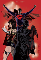 Trinity - Batman, Wonder Woman, Superman Colours by giantboydetective