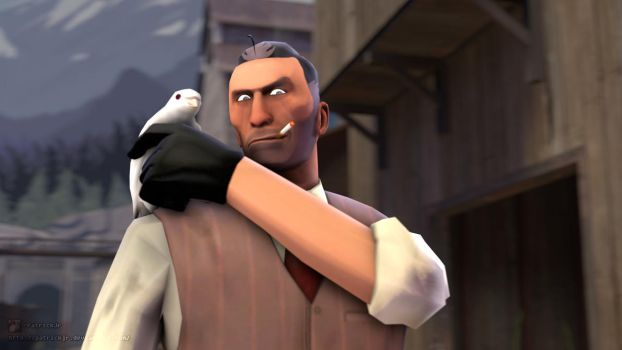 SFM Poster: The Bird Keeper by PatrickJr