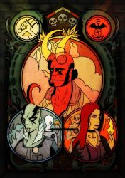 Hellboy - In The Glass by Cold-Creature