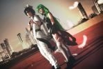 Lelouch vi Britannia and C.C cosplay by LadyOfBarians