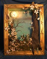 Fairy Shadow Box by TamMaggard