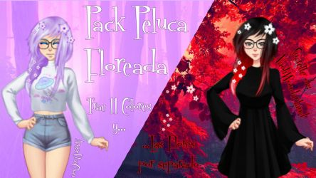 (Pack) Peluca Floreada by AngieUtauChan