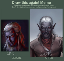 Draw this again meme by undeadcrabstick