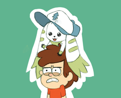 Dipper and Terriermon by retardmonkey2