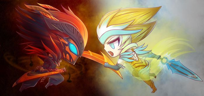 Nightbringer VS Dawnbringer by Xyrise