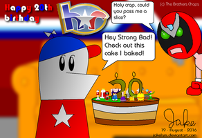 Homestar's 20th Anniversary Cake by jakelsm