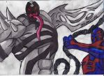 Anti-Venom and Spidey 2099 by ChahlesXavier