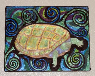 Swimming Turtle by MandyMcPebbleFace