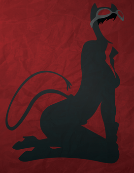 Catwoman Minimalism by AtomicKittenStudios