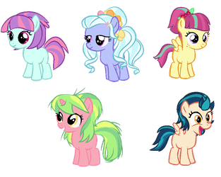 Filly Shadowbolts by BerryPunchrules