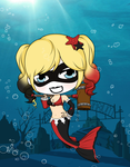 Arkham Aquarium - Harley Quinn by Mibu-no-ookami