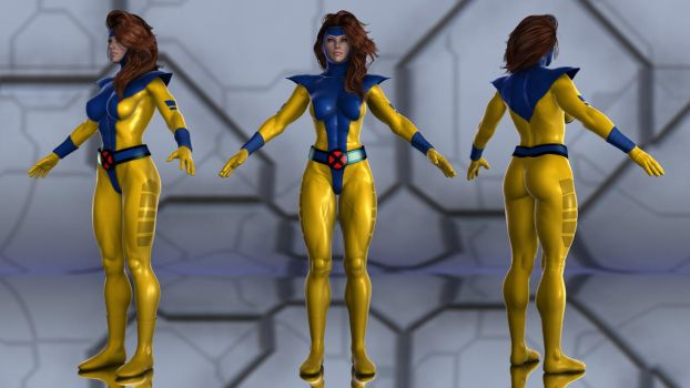 Jean Grey (90s) for G2F by geminii23