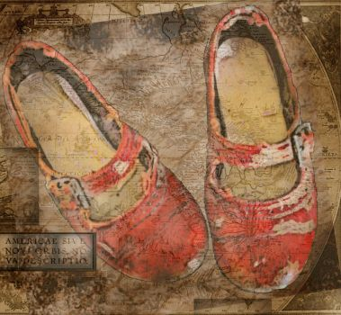 Globetrotter's Shoes by White-Rose-Tree