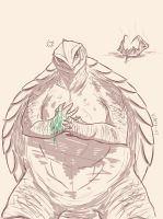 Gamera is pissed off by Vipery-07art