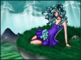 Color Girl - Aquamarine Scene 2nd version by Alise-arts