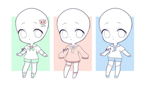 OPEN| sailor outfit adopts | 100 points by ahomilk