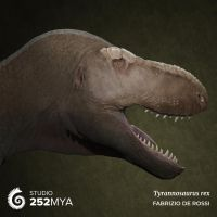 All hail the Queen - Tyrannosaurus rex portrait by FabrizioDeRossi