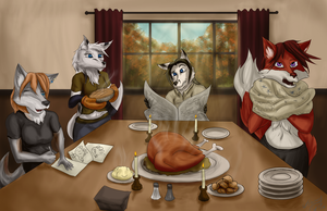 Foxgivingday by Johny-Fox