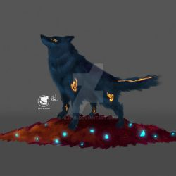 SHADOW WOLF by klehid