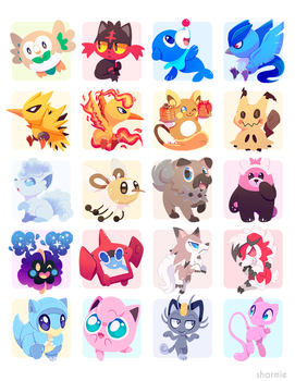 Poke Stickers 02 by ChocoChaoFun