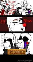 Ennard Nightmarionne and Puppet Comic EYEBROWS by Mrs-Spring45